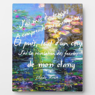 Water lily and Monet fascination. Plaque