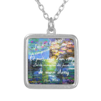 Water lily and Monet fascination. Silver Plated Necklace