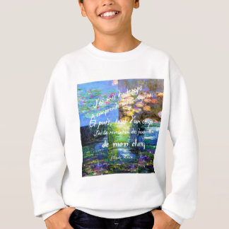 Water lily and Monet fascination. Sweatshirt