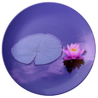 Water Lily at Dawn Plate Porcelain Plate