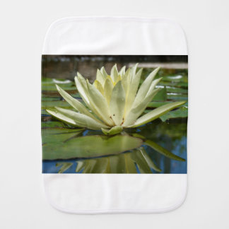Water lily burp cloth