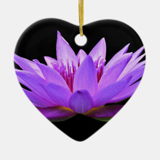 water-lily ceramic ornament