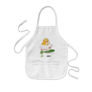 Water Lily Cute Flower Child Floral Fairy Girl Kids Apron
