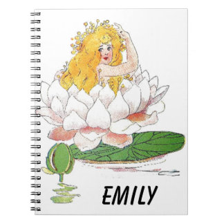 Water Lily Cute Flower Child Floral Fairy Girl Notebook