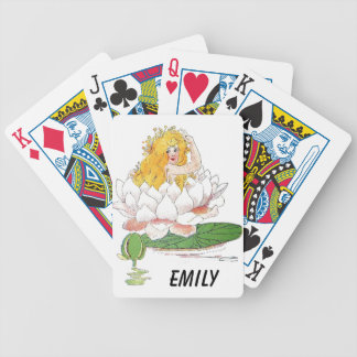 Water Lily Cute Flower Child Floral Fairy Girl Poker Deck