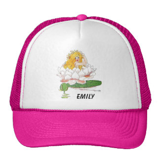 Water Lily Cute Flower Child Floral Fairy Girl Trucker Hat