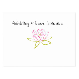 Water Lily Favors Ideas, Wedding Shower Theme Postcard