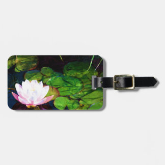 Water lily floating in a pond luggage tag
