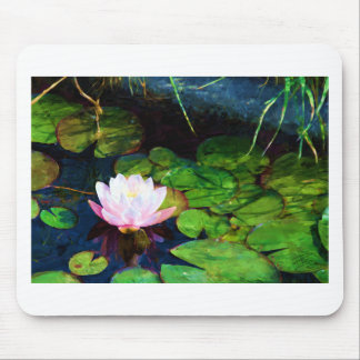 Water lily floating in a pond mouse pad