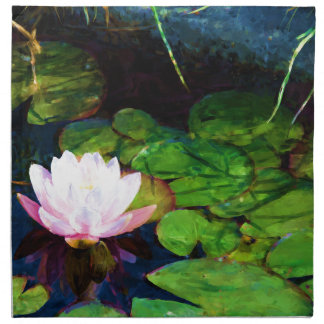 Water lily floating in a pond napkin