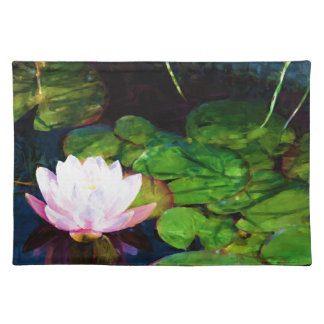 Water lily floating in a pond placemat