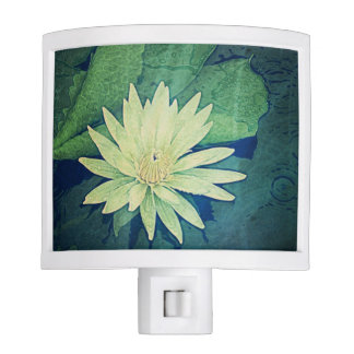 Water Lily Flower Night Light