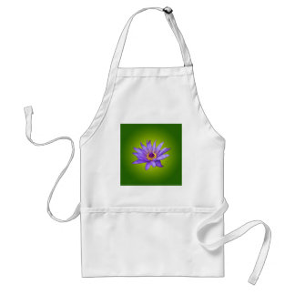 Water Lily Flower Pond Aquatic Purple Water Bloom Standard Apron