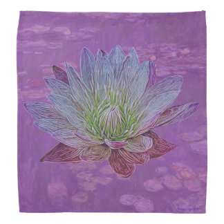 """Water Lily"" Flower Purple Lily Pretty Bandana"