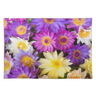 Water lily flowers placemat