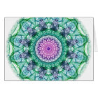 Water Lily kaleidoscope Card