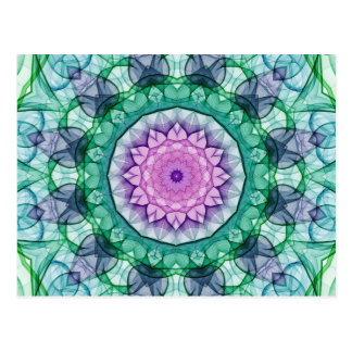 Water Lily kaleidoscope Postcard