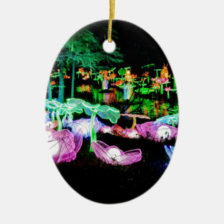 Water LIly Light Up Night Photography Ceramic Ornament