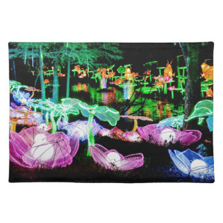 Water LIly Light Up Night Photography Placemat