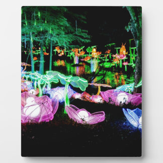 Water LIly Light Up Night Photography Plaque
