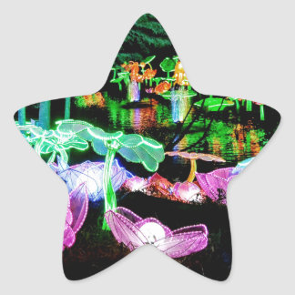 Water LIly Light Up Night Photography Star Sticker