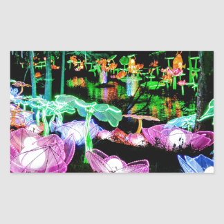 Water LIly Light Up Night Photography Sticker