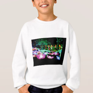 Water LIly Light Up Night Photography Sweatshirt