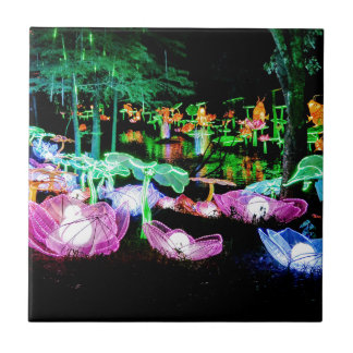 Water LIly Light Up Night Photography Tile