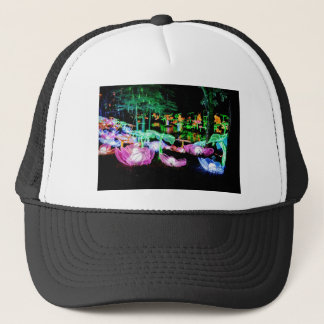 Water LIly Light Up Night Photography Trucker Hat