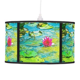 Water Lily Lilypad Pendant Lamp
