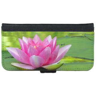 Water Lily Lotus Flower iPhone 6 Wallet Case