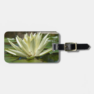Water lily luggage tag