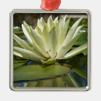 Water lily metal ornament