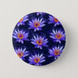 Water Lily Modern 2 Inch Round Button