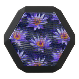 Water Lily Modern Black Bluetooth Speaker