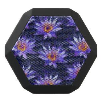 Water Lily Modern Black Bluetooth Speaker