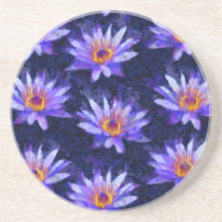 Water Lily Modern Coaster