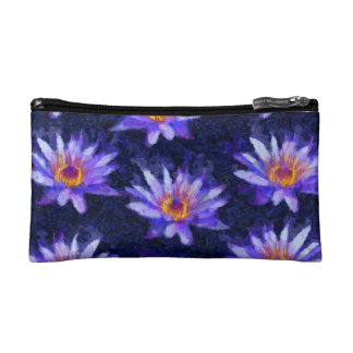 Water Lily Modern Cosmetic Bag