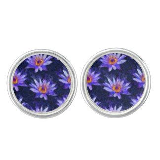 Water Lily Modern Cufflinks