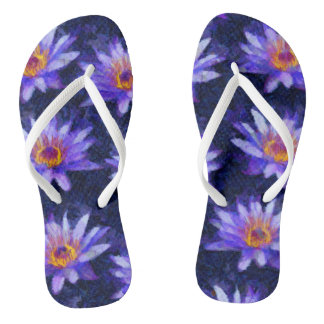 Water Lily Modern Flip Flops