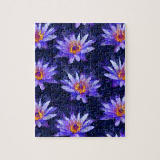 Water Lily Modern Jigsaw Puzzle