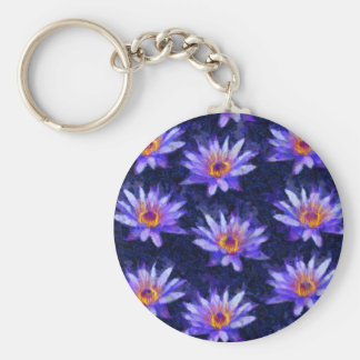 Water Lily Modern Keychain