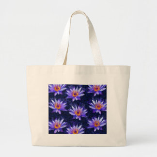 Water Lily Modern Large Tote Bag