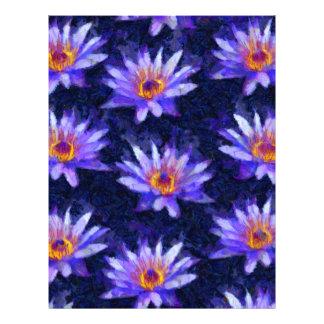 Water Lily Modern Letterhead