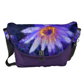 Water Lily Modern Messenger Bags