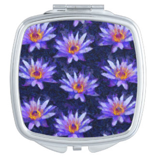 Water Lily Modern Mirror For Makeup