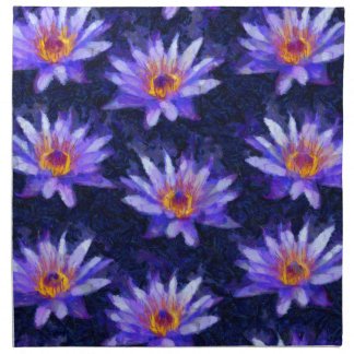 Water Lily Modern Napkin