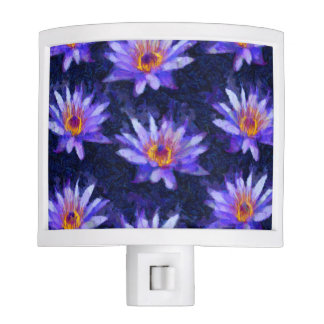 Water Lily Modern Nite Lights