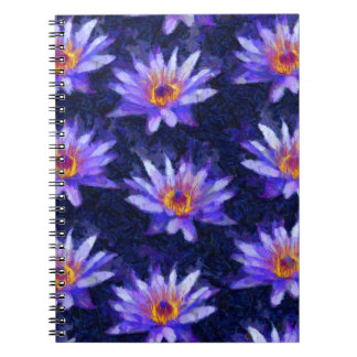 Water Lily Modern Notebook