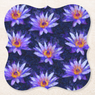 Water Lily Modern Paper Coaster
